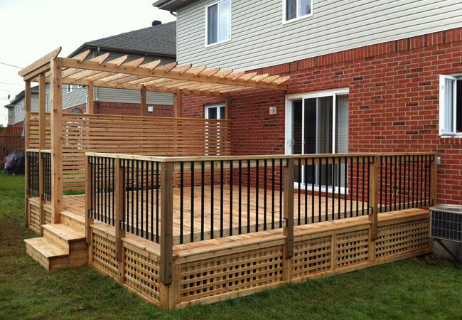 Beautiful Red Cedar Deck With Pergola